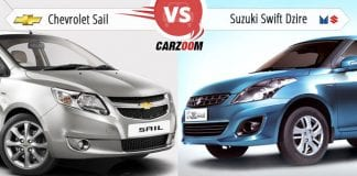Chevrolet Sail vs Maruti Suzuki Swift Dzire‎