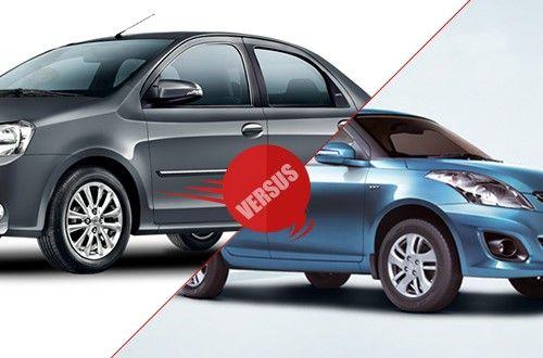Maruti Suzuki Swift Dzire Versus Toyota Etios -
