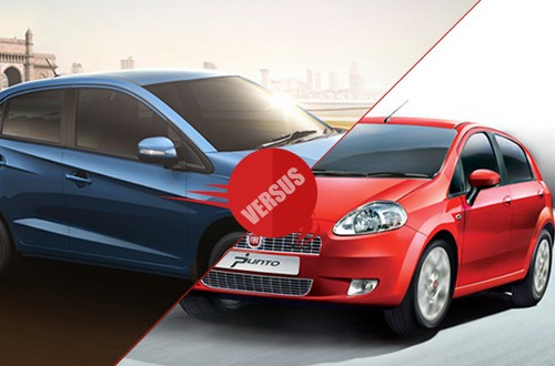 Honda Amaze vs Fiat Punto Abarth.