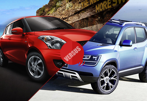 Maruti Suzuki Swift vs Volkswagen Up