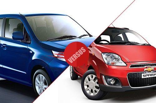 Maruti Suzuki WagonR Stingray VS Chevrolet Spark