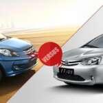 Honda Amaze VS Toyota Etios