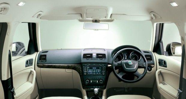 Skoda Yeti Interiors Dashboard