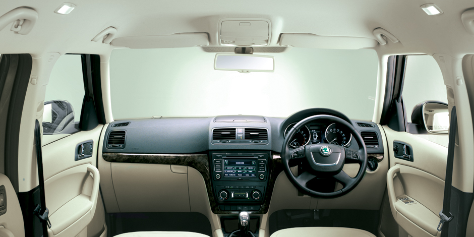 Skoda Yeti Interiors Dashboard