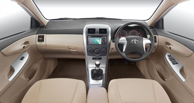 Toyota Corolla Interiors Dashboard