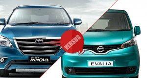 Toyota Innova facelift 2013 vs Nissan Evalia