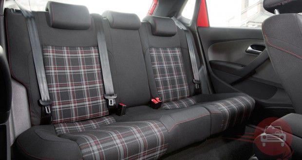 VW Polo GTi tartan back seats