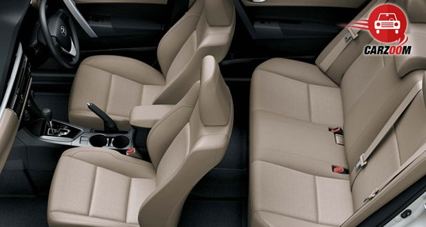 New Toyota Corolla Altis Interiors Seats