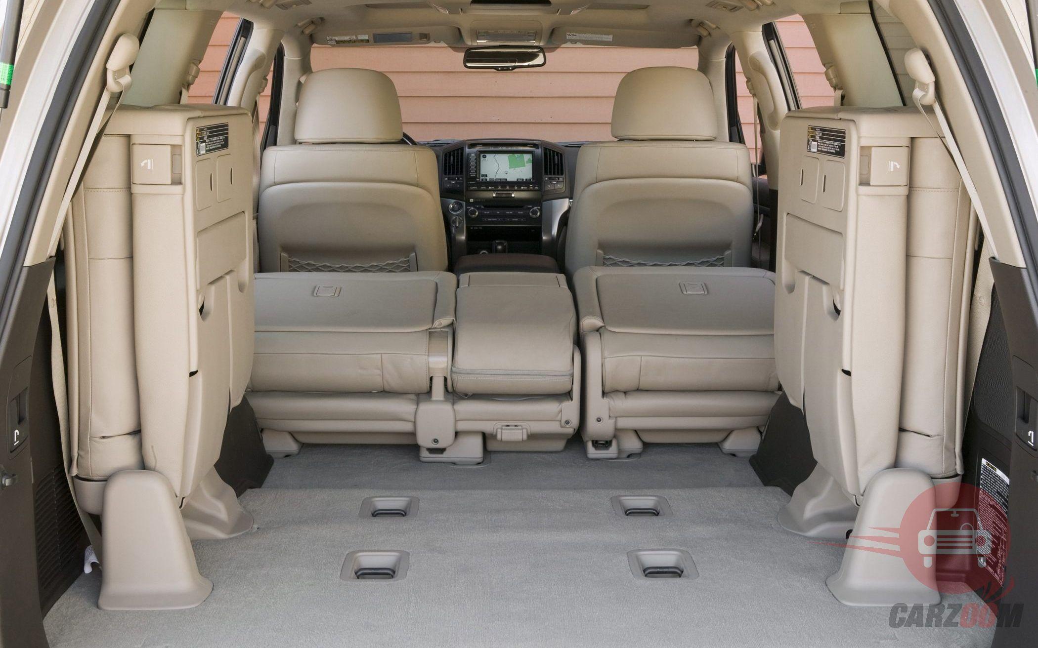 Toyota Land cruiser Interiors Bootspace