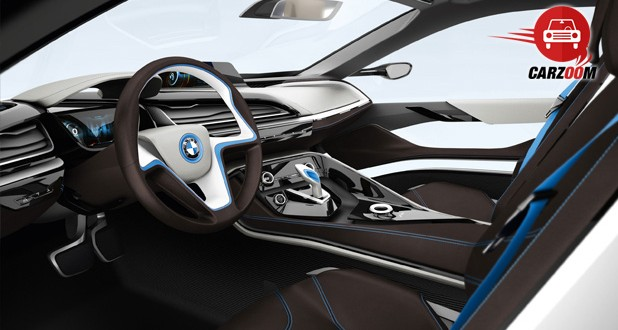 Auto Expo 2014 BMW i8 hybrid Interiors Dashboard