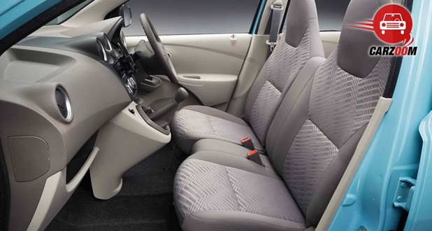 Auto Expo 2014 Datsun Go Interiors Seats