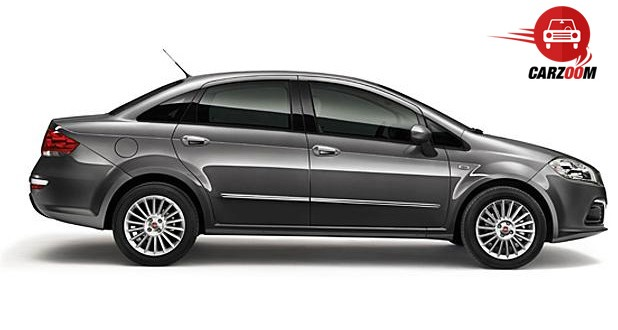 Auto Expo 2014 Fiat Linea facelift Exteriors Side View