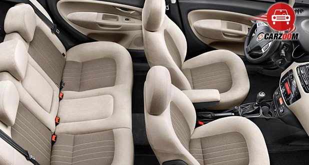 Auto Expo 2014 Fiat Linea facelift Interiors Seats