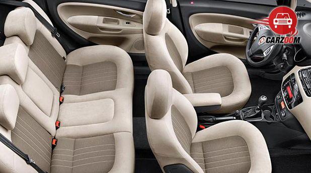 Auto Expo 2014 Fiat Linea facelift Interiors Seats