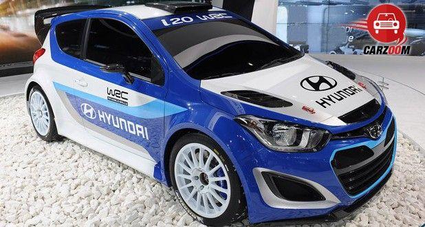 Auto Expo 2014 Hyundai i20 WRC Exteriors Front View