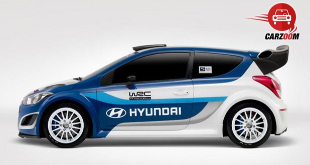 Auto Expo 2014 Hyundai i20 WRC Exteriors Side View