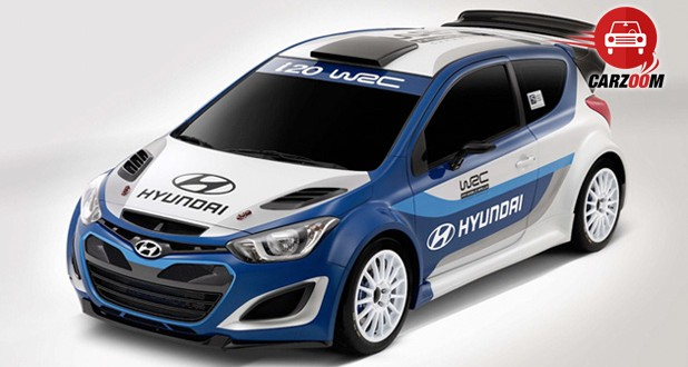 Auto Expo 2014 Hyundai i20 WRC Exteriors Top View