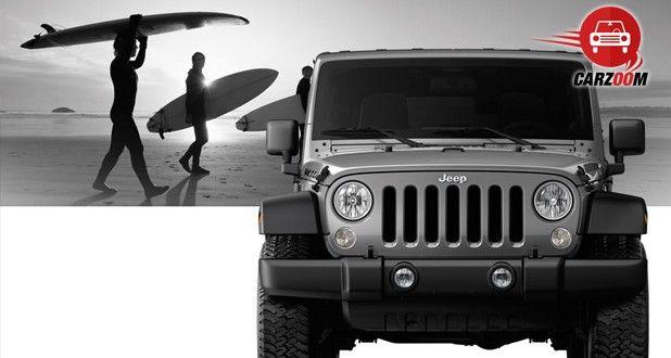 Auto Expo 2014 Jeep Wrangler Exteriors Front View