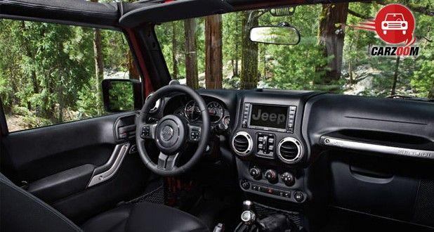 Auto Expo 2014 Jeep Wrangler Interiors Dashboard
