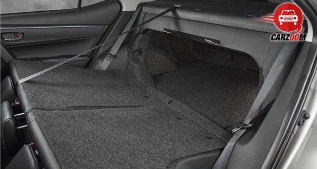 Auto Expo 2014 New Toyota Corolla Interiors Bootspace