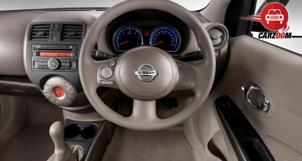 Auto Expo 2014 Nissan Sunny facelift Interiors Dashboard
