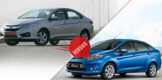 New Honda City 2014 vs Ford Fiesta