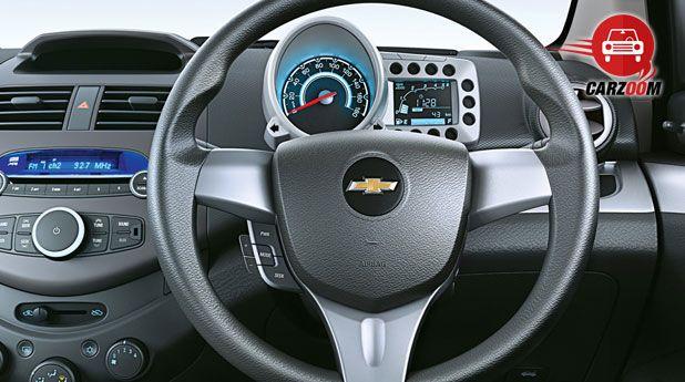 Auto Expo 2014 Chevrolet Beat facelift Interiors Dashboard