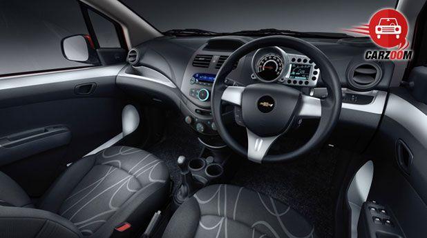 Auto Expo 2014 Chevrolet Beat facelift Interiors Seats