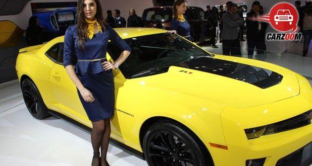 Auto Expo 2014 Chevrolet Camaro unveiled Exteriors Top View