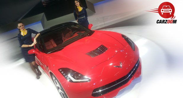 Auto Expo 2014 Chevrolet Corvette Coupe Exteriors Top View