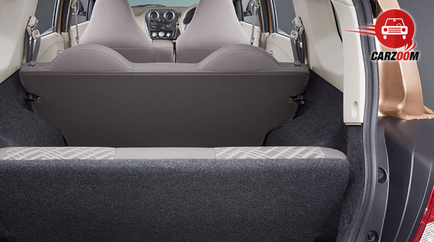 Auto Expo 2014 Datsun GO Plus Interiors Bootspace