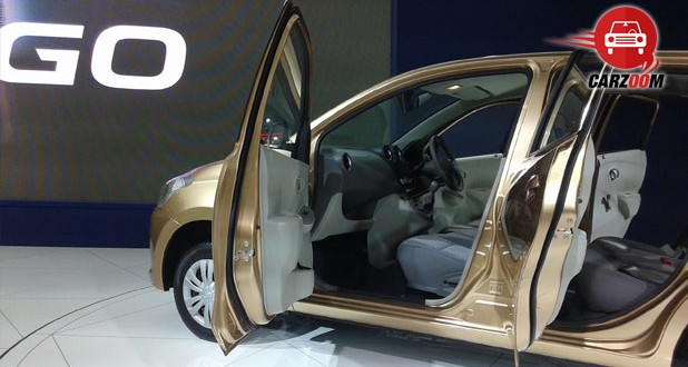 Auto Expo 2014 Datsun GO Plus Interiors Seats