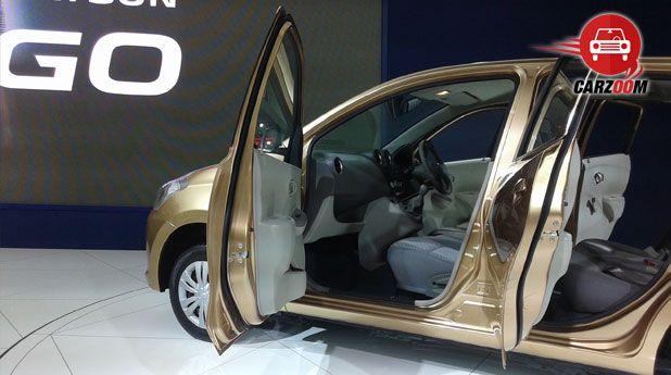 Auto Expo 2014 Datsun GO Plus Interiors Seats