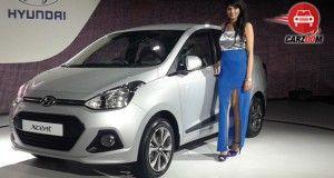 Auto Expo 2014 Hyundai Xcent Exteriors Overall