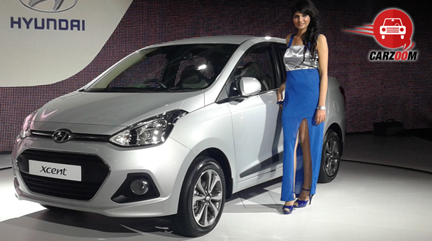 Auto Expo 2014 Hyundai Xcent Exteriors Overall