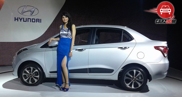 Auto Expo 2014 Hyundai Xcent Exteriors Side View