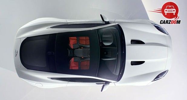 Auto Expo 2014 Jaguar F-Type Coupe Exteriors Top View
