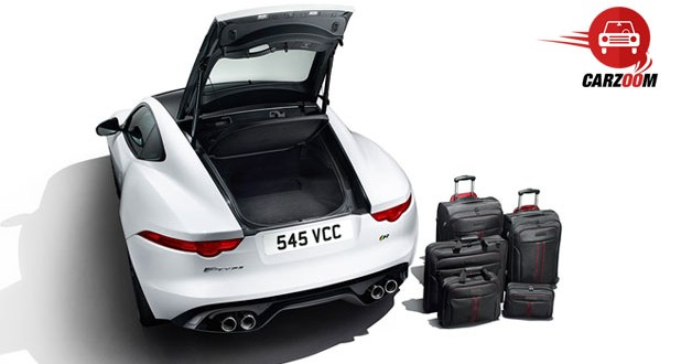 Auto Expo 2014 Jaguar F-Type Coupe Interiors Bootspace
