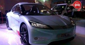Auto Expo 2014 Mahindra Halo Electric Sportscar Exteriors Overall