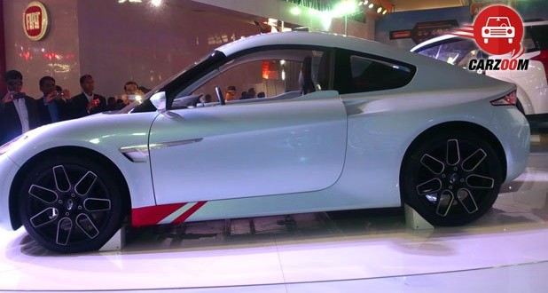 Auto Expo 2014 Mahindra Halo Electric Sportscar Exteriors Side View