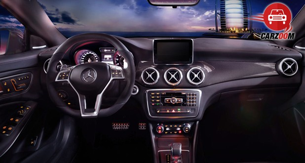 Auto Expo 2014 Mercedes-Benz CLA 45 AMG Interiors Dashboard