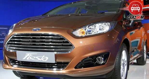 Auto Expo 2014 New Ford Fiesta Exteriors Front View