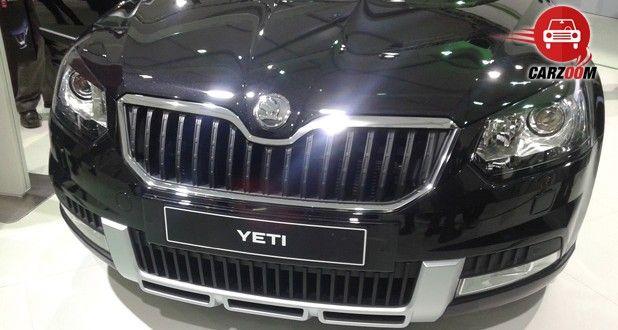 Auto Expo 2014 New Skoda Yeti Exteriors Front View