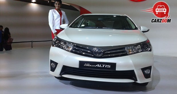 Auto Expo 2014 New Toyota Corolla Altis Exteriors Front View