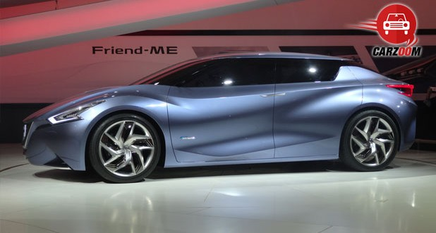 Auto Expo 2014 Nissan Friend-Me Concept Car Exteriors Side View