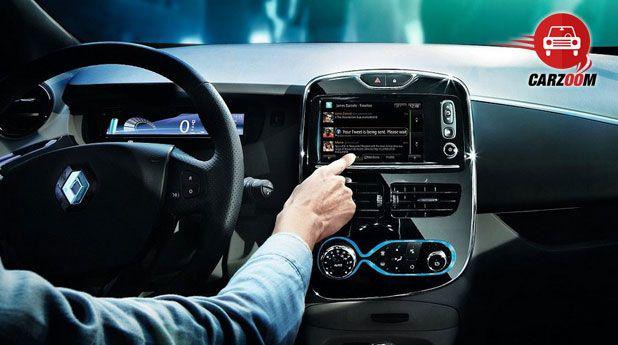 Auto Expo 2014 Renault ZOE Interiors Dashboard