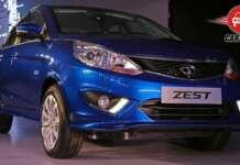 Auto Expo 2014 Tata Zest Exteriors Front View