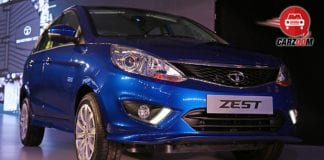 Auto Expo 2014 Tata Zest Exteriors Front View