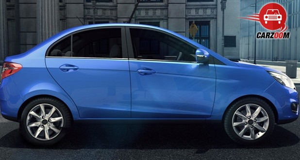 Auto Expo 2014 Tata Zest Exteriors Side View