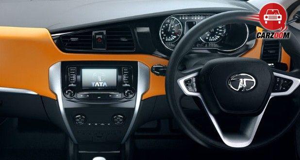 Auto Expo 2014 Tata Zest Interiors Dashboard